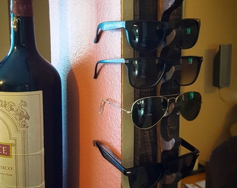 Sunglasses Rack / Key Rack / Key hook / Coat Rack / Coat hook / Recycled pallet wood