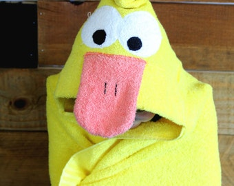 Duck hooded towell