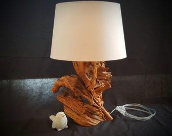 Rustic Wood Table lamp