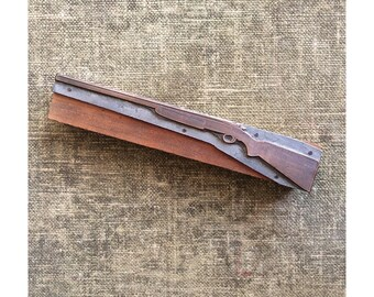 Letterpress Print Block - Rifle