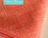 Architextures Crosshatch by Robert Kaufman and Fabric Shoppe- Best Seller- Crosshatch in Poppy- Choose Your Cut
