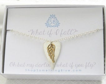 Heart & Wing Necklace • Angel Wing Necklace • Inspirational Jewelry • Heart Pendant • Heart and Wing Charm • Gift of Encouragement