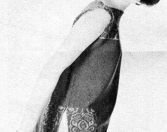 1960s Brocade Tabard/Tunic knitting pattern PDF