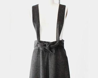 1990's Brown Japanese Suspender Dress
