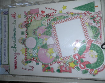 Vintage Christmas Deluxe Scrapbooking Kit, New, Sealed, Designed by Bryce & Medeline