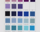 Wool Felt, CHOOSE EIGHT Colors, Pure Merino Wool, Small Sheets, Sampler Set, 6x8 Inch Felt, Certified Safe, Blue, Lilac, Purple, Aquamarine