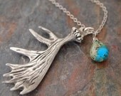 Moose Antler Turquoise Necklace