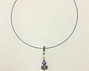 Choker Necklace w/Vitrail Light Swarovski pendant