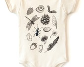 Organic Baby One Piece, Nature baby shirt, Screen Printed Baby Clothing Curiosities Baby Bodysuit Infant One Piece unisex baby shower gift