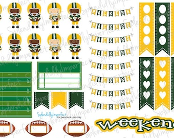 Green Bay Football Planner Stickers