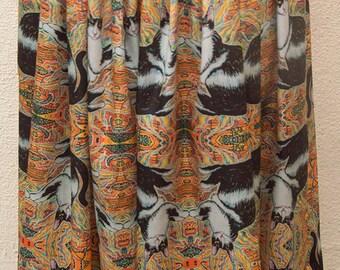 Vixen the Cat Silk Satin Skirt