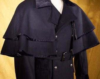 Double Breasted Town Coat---With Detachable Capes