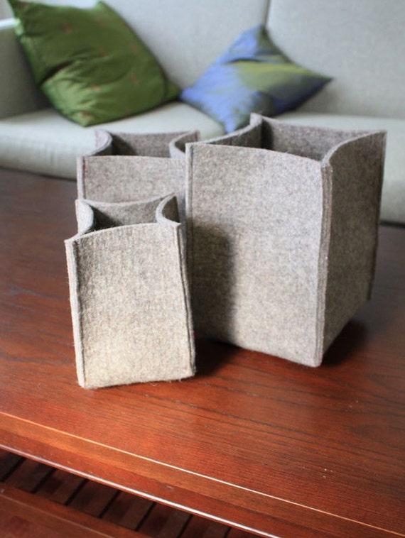 Felt Storage Baskets - Set of 3