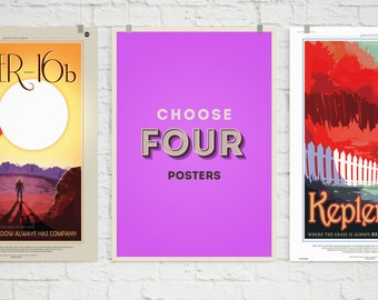 Choose Your Own 4 Poster Set