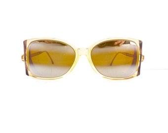60s Mod Sunglasses Frames Women's Vintage 1960's Mod Translucent with Black Detail Frames Made in France #M458