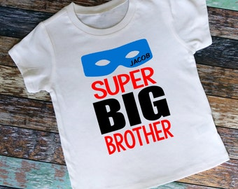 Personalized Super Big Brother Mask Shirt or Bodysuit, Personalized with ANY Name!