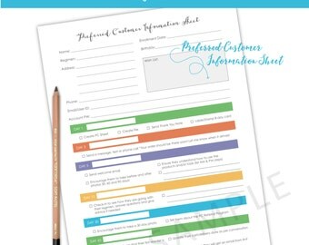 Rodan and Fields New Preferred Customer Info Sheet - Rodan + Field / Info Sheet / Preferred Customer / New Preferred Customer