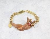 Bird Charm Bracelet - Swallow Bracelet - Sparrow Jewelry - Bird Bracelet - Bird Jewelry - Nature Jewelry - Bird Gift - Totem Jewelry - B9
