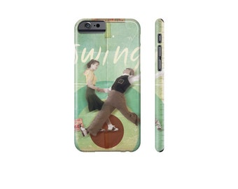 SWING Dance Phone Case, iPhone 7 Case, Samsung Galaxy Case, Retro Phone Cover, iPhone 6s Case, Galaxy s7, Protective Case for iPhone 5.