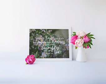Micah 6:8 | Do Justice, Love Kindness, Walk Humbly Encouraging Printable Scripture Art
