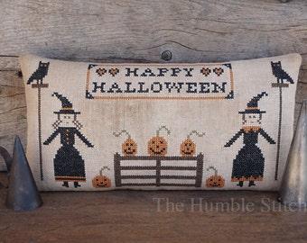 Happy Halloween...Primitive Cross Stitch Pattern By The Humble Stitcher