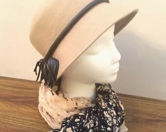 vintage tan bucket hat