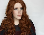 Brown Lace Front Wig | Long Curly Brown Wig | Natural Reddish Brown Lace Front wig | Chai Latte