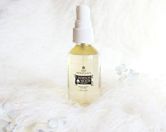 Crimson Moon - PMS mist | Aromatic Soothing Body Spray wtih Bulgarian Rose, Vanilla, Lavender, Mint and Citrus | 100% natural and vegan