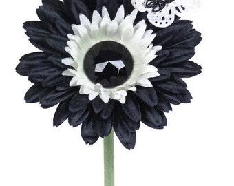 VW Beetle Flower -Black Diamond Tuxedo Daisy