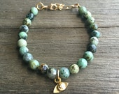 SALE // African Turquoise Protective Eye Bracelet | Evil Eye | Turquoise Bracelet | Beaded Bracelet