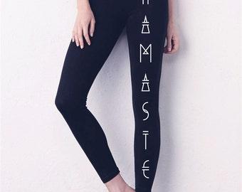 BAJUES Eco-friendly printed NAMASTE Yoga Leggings