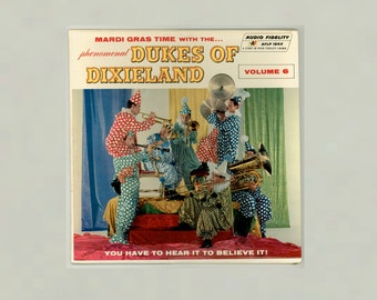 Dixieland Jazz Mardi Gras time with the Phenomenal Dukes of Dixieland Volume 6 Audio Fidelity LP 1862 Vintage Vinyl Record Album