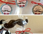 Mustache Bash Baby Shower Favor Tags