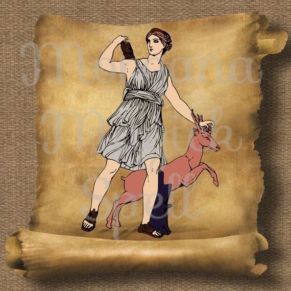 Goddess Diana  Royalty Free Clip Art