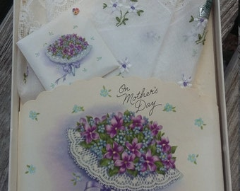 Vintage Treasure Masters Keepsake Handkerchief Mothers Day Gift