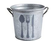SALE! Flatware Kitchen Storage Bucket