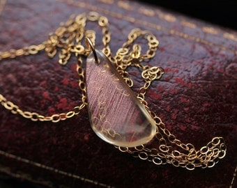 Oregon Sunstone Necklace, Handmade Gold Necklace, Simplistic Necklace, Gemstone Necklace, Sunstone Jewelry, Gifts under 75, Gold Necklace.