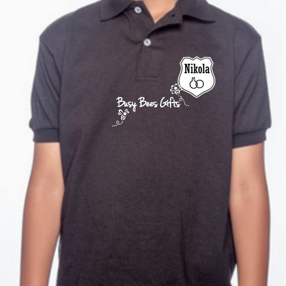 Wedding ring security ring bearer personalized by for Personalized polo shirts for toddlers