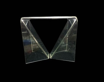 Vintage Lucite Table, Neal Small Origami, Mid Century Modern Furniture