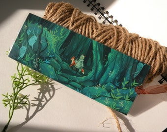 Magical Forest bookmark, large  bookmark, unique bookmarks
