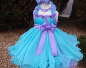 Pageant Babydoll Dress/Natural Pageant Dress/Seafoam Lavender - Made to Order