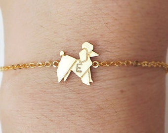 dog anklet, Personalized anklet,animal,initial anklet, Personalized Jewelry, friendship anklet, summer anklet ,poodle anklet