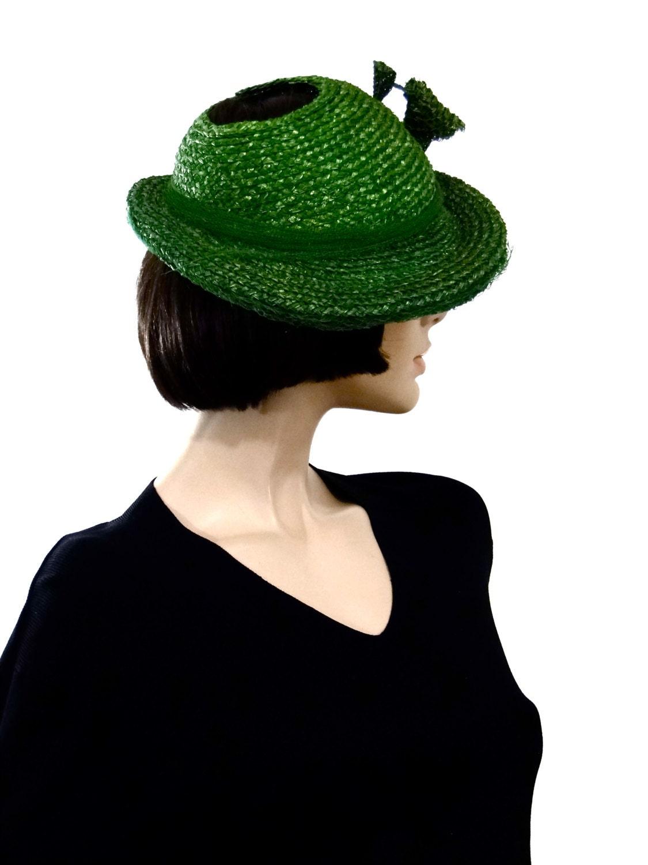 1940 s straw fedora hat vintage s summer hat