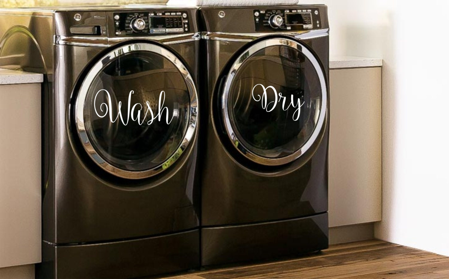 Wash Amp Dry Decals For Washers And Dryers Laundry Room Decor
