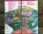 Disneyland Map Coasters - Set of 4