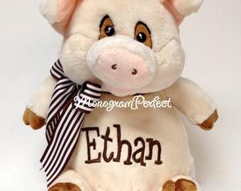 """Personalized 14"""" Plush Pig Stuffed Animal"""