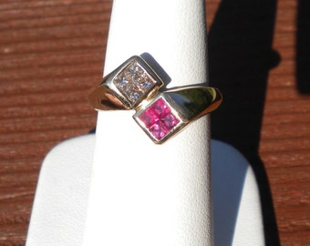 LeVian 14k gold Ruby and Diamond ring