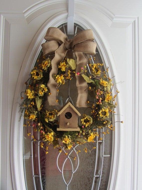 Summer Wreath Sunflower Wreath Spring Wreath Summer