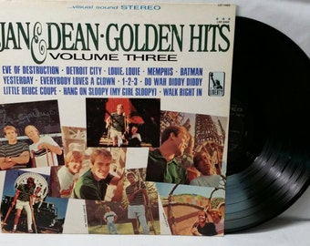 Surf Rock Record - Jan And Dean Golden Hits Volume 3 - 1966 Vintage Vinyl LP