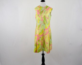 1960s Mod Silk Dress Colony Classics Made in Hong Kong BCC